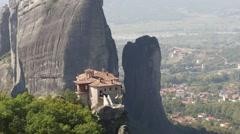Meteora Grecian Monastery Rousánou 21 - stock footage