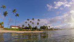 Tropical summer time beach coast Stock Footage