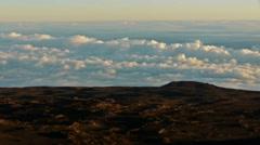Time Lapse of Sea of Clouds atop Mauna Kea Summit in Hawaii Stock Footage