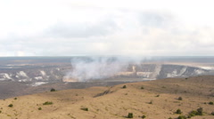 Time Lapse of Halemaumau Crater of Kilauea Volcano in Hawaii Stock Footage