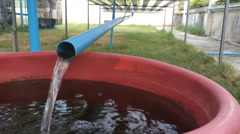 Plastic Pipe Drain The Water Stock Footage