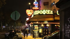 Paris Red Light District Place Pigalle Stock Footage