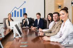 Businesspeople At The Meeting Stock Photos
