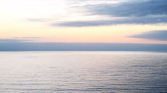 Time Lapse of Twilight Seascape Stock Footage