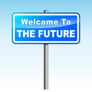 future signpost - stock illustration