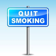 Quit smoking signpost Stock Illustration