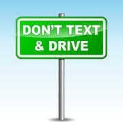 Stock Illustration of text driving signpost