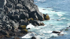 Stock Video Footage of Central California Coastline in Big Sur -Crushing Waves-