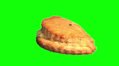 Cottage cheese patty 02 Stock Footage