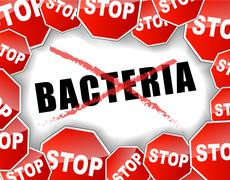 Stop bacteria Stock Illustration