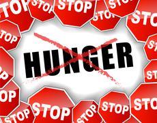 Stop hunger Stock Illustration
