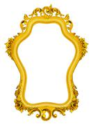 Gold baroque frame isolated on white background. Stock Illustration