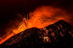eruption etna - stock photo