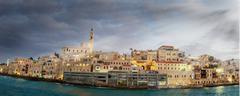 jaffa port. - stock photo