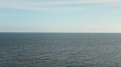 Beautiful horizon mediterranean sea. Blue water landscape. Beach Spain Stock Footage