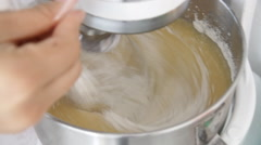 Automatic mixer flour Stock Footage