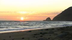 Sunset Seascape in Malibu Beach Stock Footage