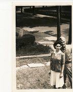 Ruth Kaufman & her husband on the lawn, 1942 Free Stock Photos