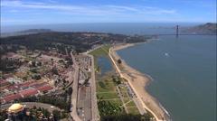 Aerial San Francisco USA Pacific ocean coastline Golden Gate Stock Footage