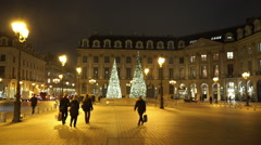 Stock Video Footage of Famous Place Vendome at Christmas time