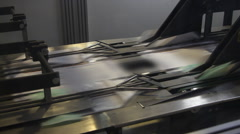 print press typography machine in work - stock footage