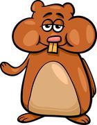 Stock Illustration of hamster character cartoon illustration
