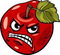 Stock Illustration of bad apple saying cartoon illustration