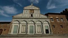Florence Italy San Miniato al Monte church entrance HD Stock Footage