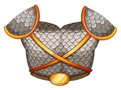 A viking's body shield Stock Illustration