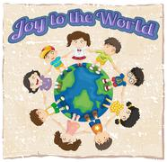 Stock Illustration of A joy to the world template