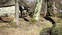 Old Mill near Water Stream Stock Footage