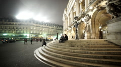 The stairs at Garnier Palace - the Paris Opera - stock footage