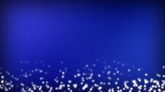 Blue Sparking star festive motion background Stock Footage