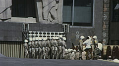 Mexico city 1973: special police forces in front of the University Stock Footage