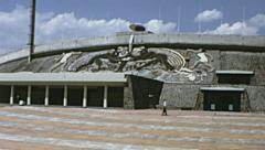 Mexico city 1973: Estadio Olímpico Universitario Stock Footage