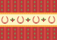 christmas decoration background for design - stock illustration