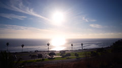 Time Lapse of Sunset Seascape in San Pedro -Tilt Up- - stock footage