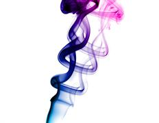 bright purple smoke - stock photo