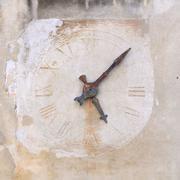 Ancient clock. Beginning of the seventeenth century. - stock photo
