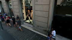 Rome Italy busy business sidewalk HD 3801 Stock Footage