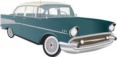 vintage automobile - stock illustration
