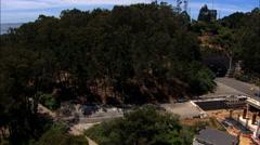 Aerial USA California Francisco Bay Oakland Bay Bridge city - stock footage
