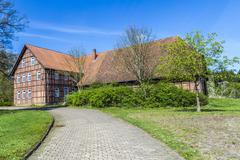 half timbered house in germany - stock photo