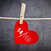 Heart shaped valentine's day card with message Stock Photos