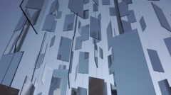Mirrors with reflections swirling in the wind Stock Footage