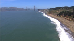 Aerial San Francisco USA California Golden Gate Bridge Stock Footage