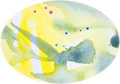 Watercolor egg-shaped background Stock Photos