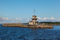 kronstadt port - stock photo