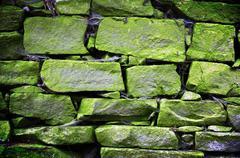 old brickwork - stock photo