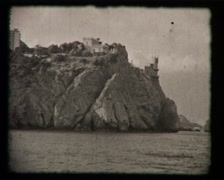 The castle on the rock, SD Vintage 8 mm Amateur Film Stock Footage
